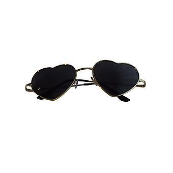 Trendy hearts sunglasses black