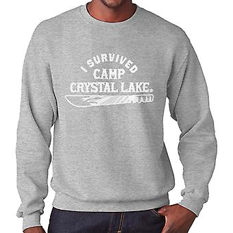 I Survived Camp Crystal Lake Friday the 13th Men's Sweatshirt