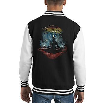 Der letzte Raum Bender Avatar The Last Airbender meditieren Kid es Varsity Jacket