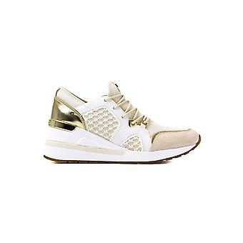 MICHAEL Michael Kors Women's Scout Leather Trainers - Ecru & Pale Gold
