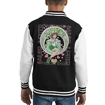 Sailor Jupiter Makoto Kino Moon Kid's Varsity Jacket