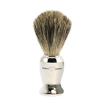 Edwin Jagger Nickel Plated Pure Badger Shaving Brush 81SB71911