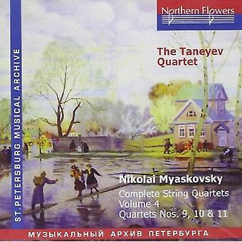 Taneyev kvartetten - N. Miaskovsky - komplet strygekvartetter 4 [CD] USA importerer