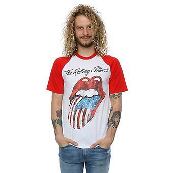 Rolling Stones mænds amerikanske tungen Baseball T-Shirt