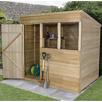Forest Garden 7x5ft Treated Overlap Pent Garden Shed