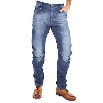 G-Star Arc 3D Loose conico medio invecchiato Jeans ascensore Denim Tapered gamba Loose Fit