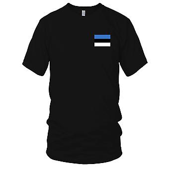Estland land nationale Flag - broderet Logo - 100% bomuld T-Shirt damer T Shirt