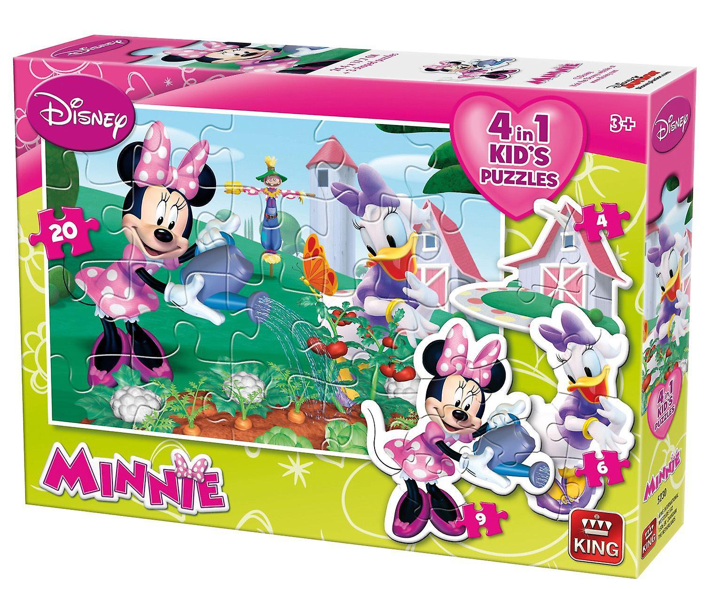 Minnie Mouse 4-w-1 kształcie Jigsaw puzzle (4-20 sztuk)