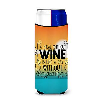 A Meal without Wine Sign Michelob Ultra Hugger for slim cans