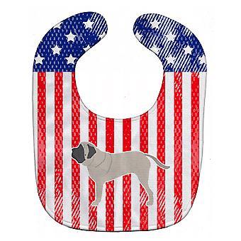 Carolines Treasures  BB3356BIB USA Patriotic English Mastiff Baby Bib