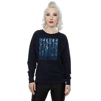 DC Comics Women's Justice League Movie Double Indigo Sweatshirt