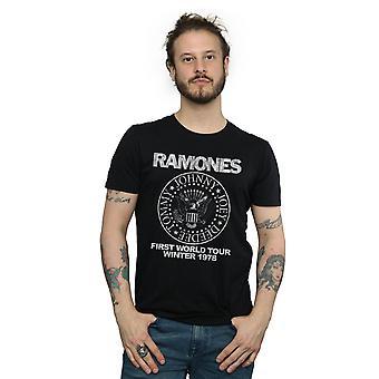 Ramones mænds First World Tour 1978 T-Shirt