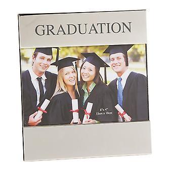 Cadre de Photo de Graduation plaqué argent brillant Widdop