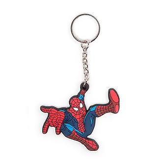 Spiderman Keyring Keychain Comic new Official Marvel rubber