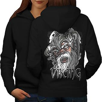 North Warrior Fantasy Women BlackHoodie Back | Wellcoda