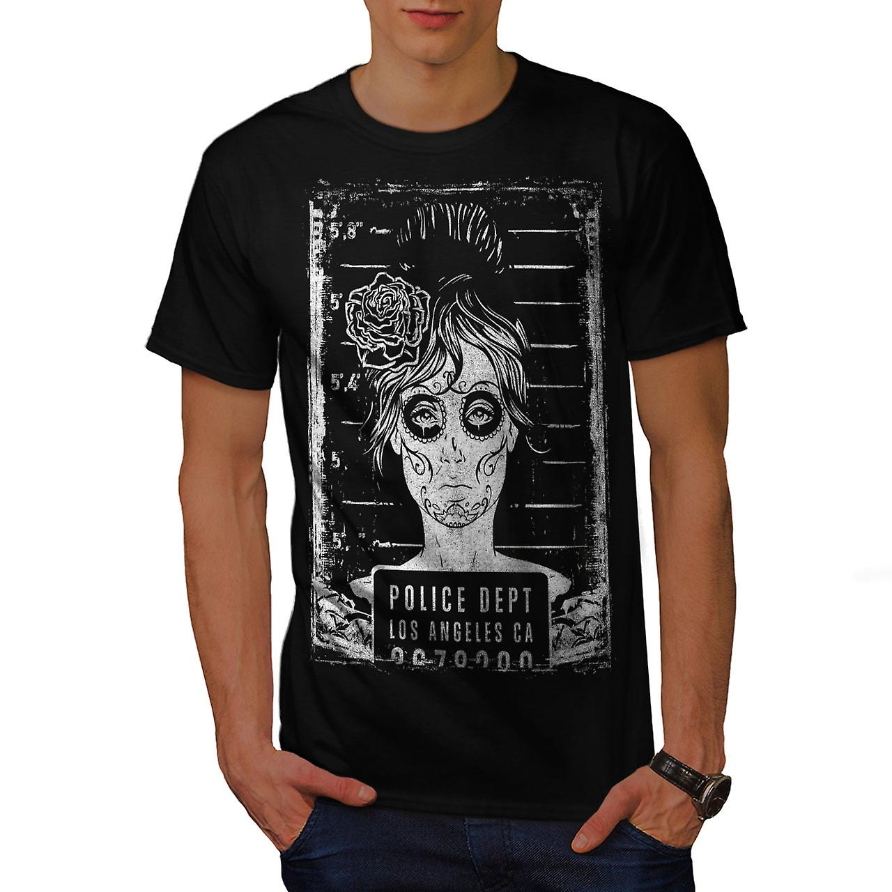 LA Police Dept Zombie Men Black T-shirt | Wellcoda