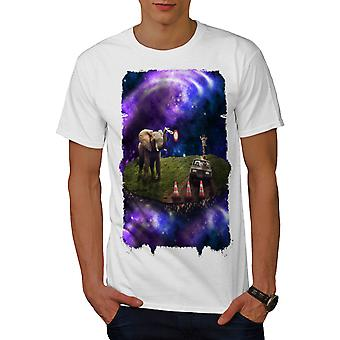 Space Mars Animal Men WhiteT-shirt | Wellcoda