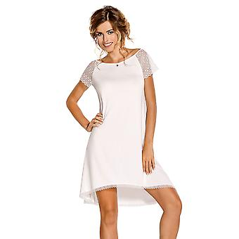 Nipplex Women's Sabrina White Night Gown Pyama