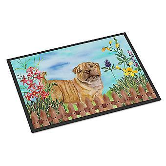 Carolines Treasures  CK1281MAT Shar Pei Puppy Spring Indoor or Outdoor Mat 18x27