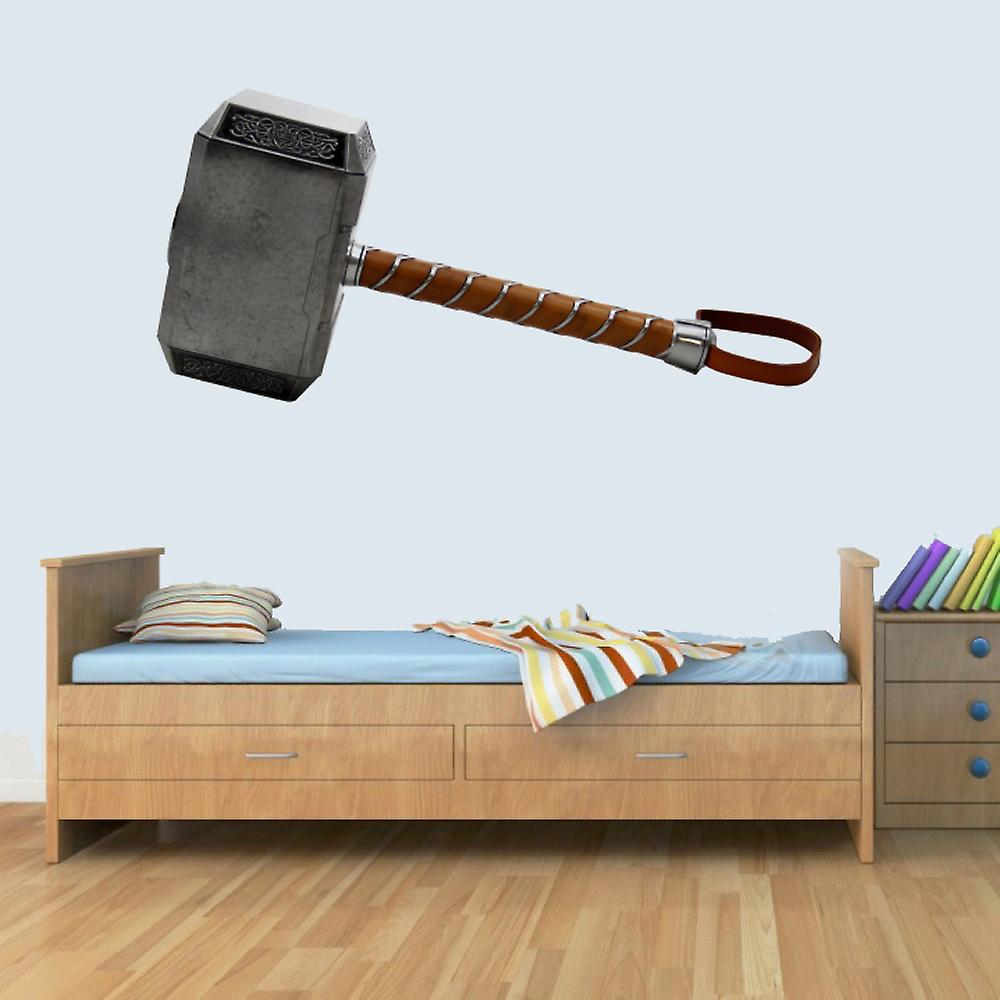 GNG Marvel Thor Hammer Childrens Wall Art Decal Vinyl Stickers Picture for Boys/Girls Bedroom M