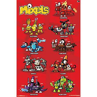 LEGO Mixels - сетка Плакат Печать
