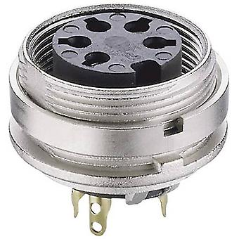 DIN connector Socket, vertical vertical Number of pins: 4 Silver Lumberg KGV 40 1 pc(s)