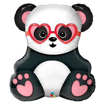 Folie ballong i kjærlighet Panda høyde ca 81 cm