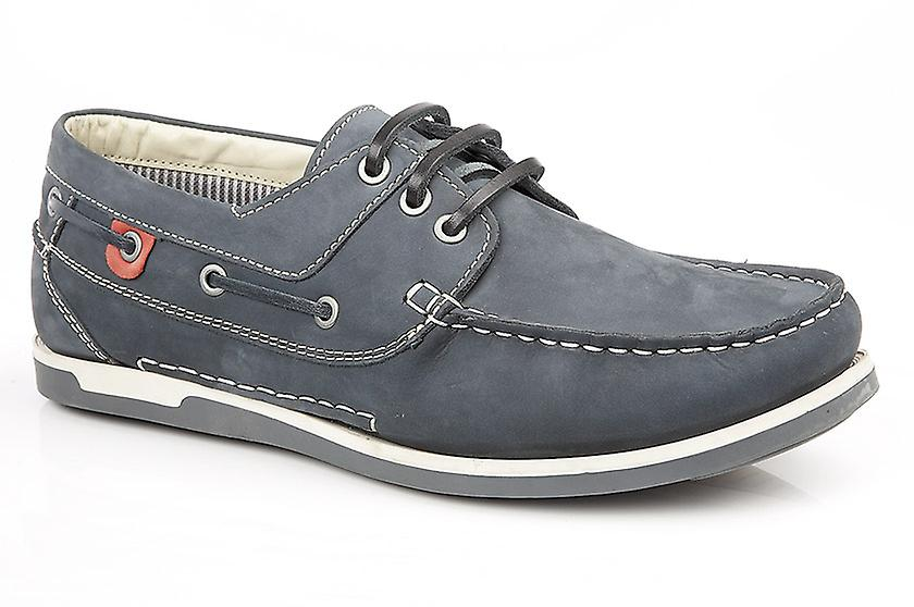Mens Eyelet 3 Shoes Boat Leather Roamers OdqYO