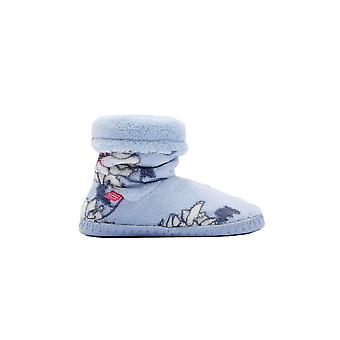 Joules Junior Padabout Girls - Sky Blue Peony (Textile) Childrens Slippers