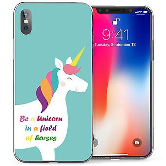 iPhone X zijn een Unicorn TPU Gel geval