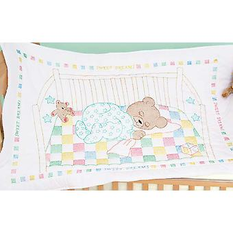 Cachet blanc couette lit Top 40 « X 60 » Snuggly Teddy 4060 452
