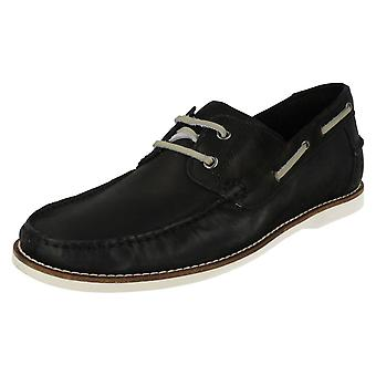 Men's Anatomic & Co Casual Lace Up Deck Shoes Yago 191905 Vintage Black Size UK 10.5/45