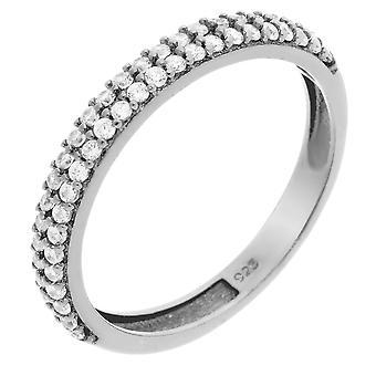 Orphelia plata 925 anillo circonio ZR-6011