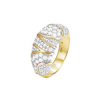 ESPRIT collection ladies ring Silver Gold cubic zirconia Adelphia GR 18 ELRG92513A180
