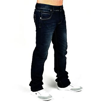 Nye mænd Jeans bukser designer denim sort stil clubwear unleashed-Jeansnes