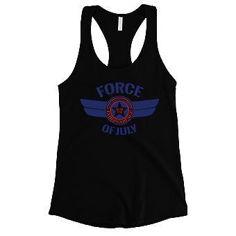 Kraft der Juli Damen schwarz Racerback Tank Top 4. Juli Outfit