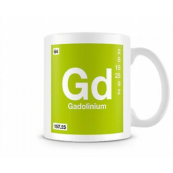 Element Symbol 064 Gd - Gadolinium Printed Mug