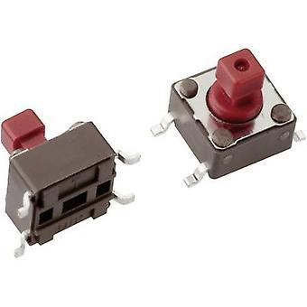 Mentor 1254.1107 bouton-poussoir 12 Vdc 0,05 A 1 x Off/(On) momentanée 1 PC (s)