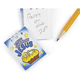 48 Happy Birthday Jesus Mini Spiral Note Pad Christmas Party Favours