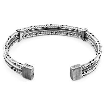 Anchor & Crew Grey Dash Aire Silver and Rope Bangle