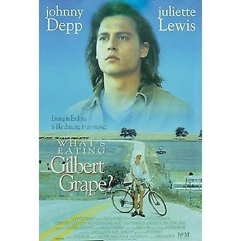 Poster di Gilbert Grape di Johnny Depp, Juliette Lewis - blu