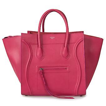 Celine Medium Luggage Phantom Bag In Fuchsia Baby Grained Calfskin Leather