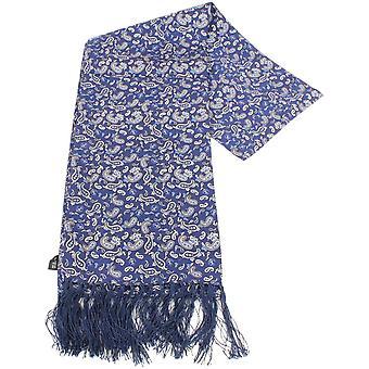 Knightsbridge Neckwear Paisley Silk Scarf - Blue