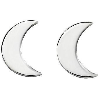 Beginnings Moon Stud Earrings - Silver