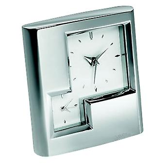 Orton West Dual Time Desk alarmklok - zilver
