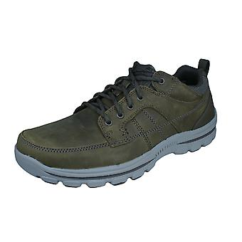 Skechers Braver Ralson Mens Classic Fit Leather Shoes - Desert