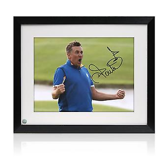 Inramade Ian Poulter Signerat Foto: Ryder Cup 2018