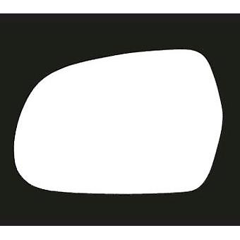 Left Stick-On Mirror Glass for Audi A3 Convertible 2010-2013