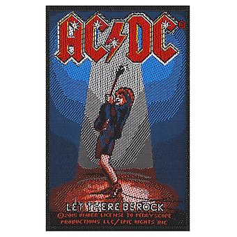 AC/DC Let There Be Rock sew-on cloth patch 100mm x 70mm (rz)