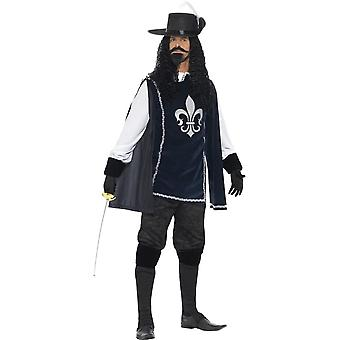 Musketeer Male Costume, with Top, Hat, Chest 38